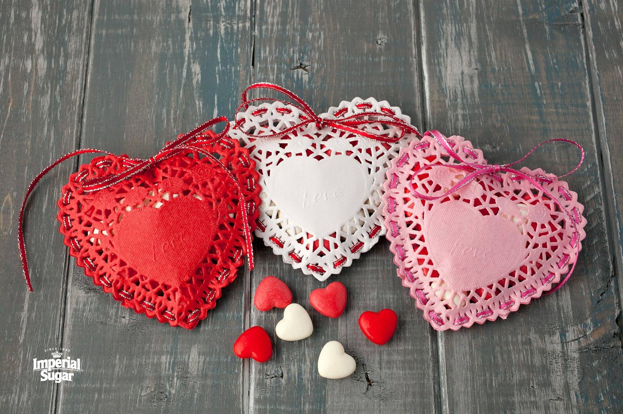 Doily Candy Hearts