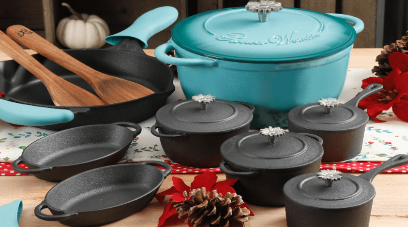 The Pioneer Woman Timeless 18 Piece Cast Iron Essential