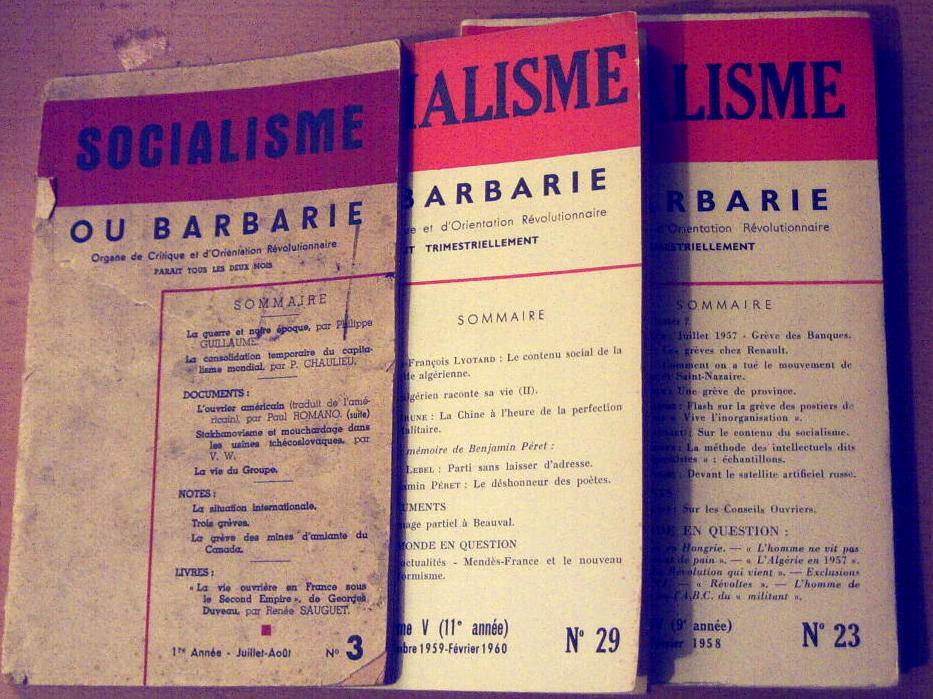 Några nummer av tidskriften Socialisme ou Barbarie