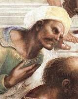 Averroës (detalj från Rafaels Skolan i Aten)