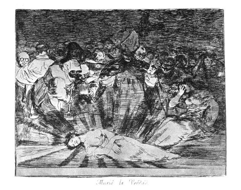 """Goya - """"Sanningen är död"""" från Los desastres de la guerra"""