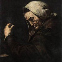 "Äldre bankman (Ribera, ""Vieja usurera"", 1638)"