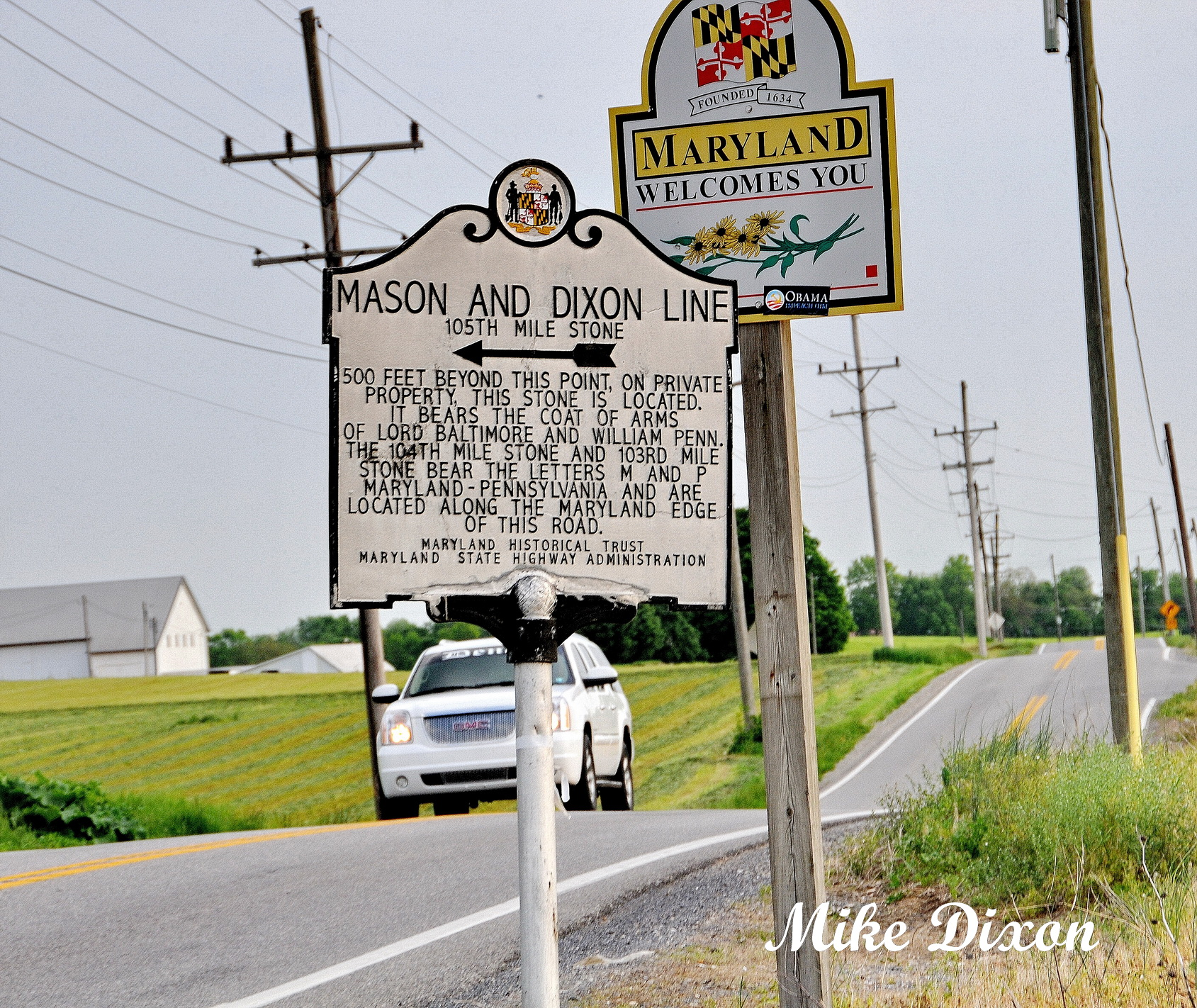 on the mason dixon line in western md central pa