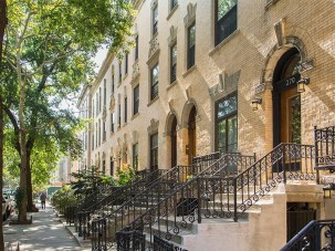 White Brick Townhome Door Arche Strivers Row Townhomes