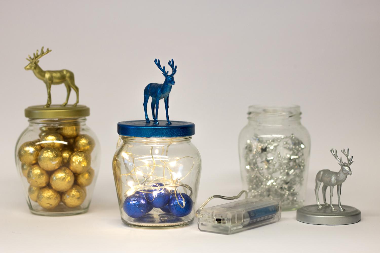 Weihnachtsdeko Selber Basteln Hirschglaser