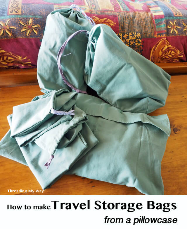 How to sew travel storage bags from pillowcases