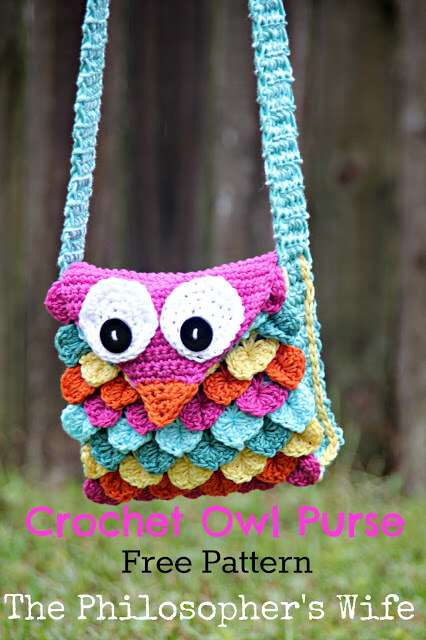 Free owl crochet purse pattern