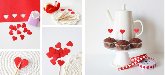 Valentines Day Gifts For Him Homemade Cupcakes Sticks Red