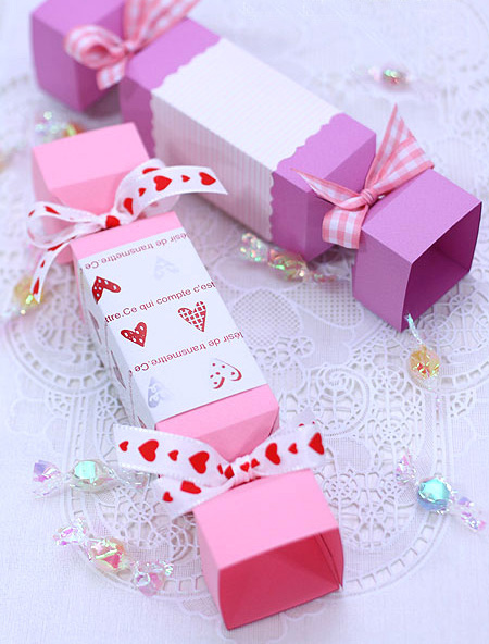Making Small Candy Valentine Gifts Wrapping Ideas Purple