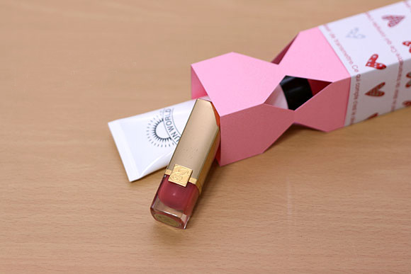 Valentines Day Wrapping Ideas Paper Candy Lipstick Creme