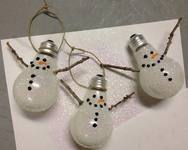 Image result for light bulb christmas ornament