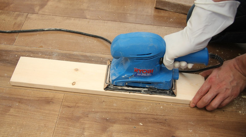 using a power sander