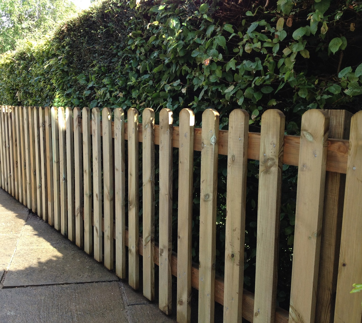 Wooden Picket Fencing Sold Per Metre
