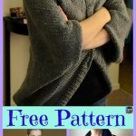10 Beautiful Knit Blanket Sweater Free Patterns Diy 4 Ever