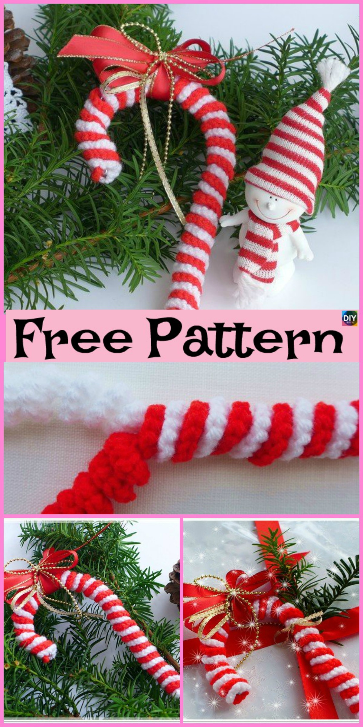 Easy Crochet Candy Canes