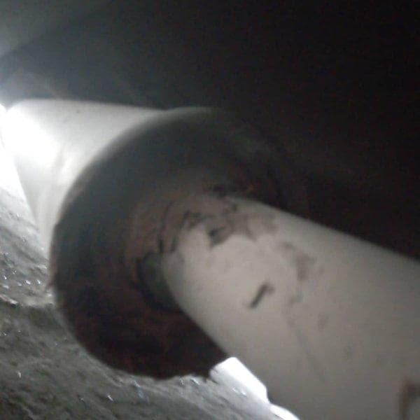 repairing a punctured car exhaust do
