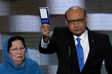 Father of a Muslim soldier killed in action has a message for Donald Trump: 'You have sacrificed nothing'