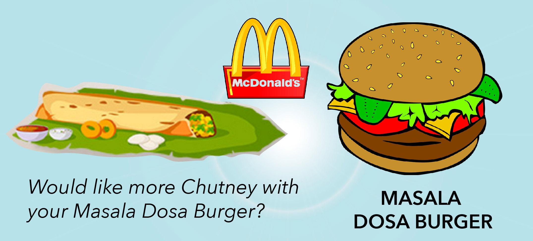 Mc Donalds to launch Masala Dosa burgers and Anda Bhurji