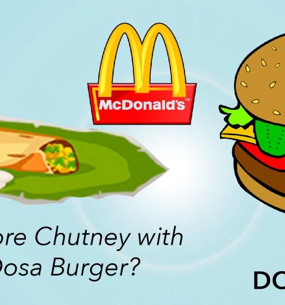 Masala Dosa Burger