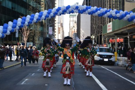 Indian American Scottish Bagpipe plays NYC's Tartan Day Parade