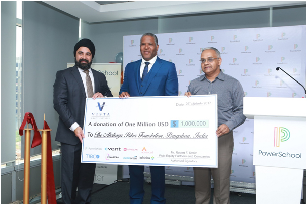 Akshaya Patra Foundation receives $1M pledge from Vista Equity Partners; raises $500K at annual event