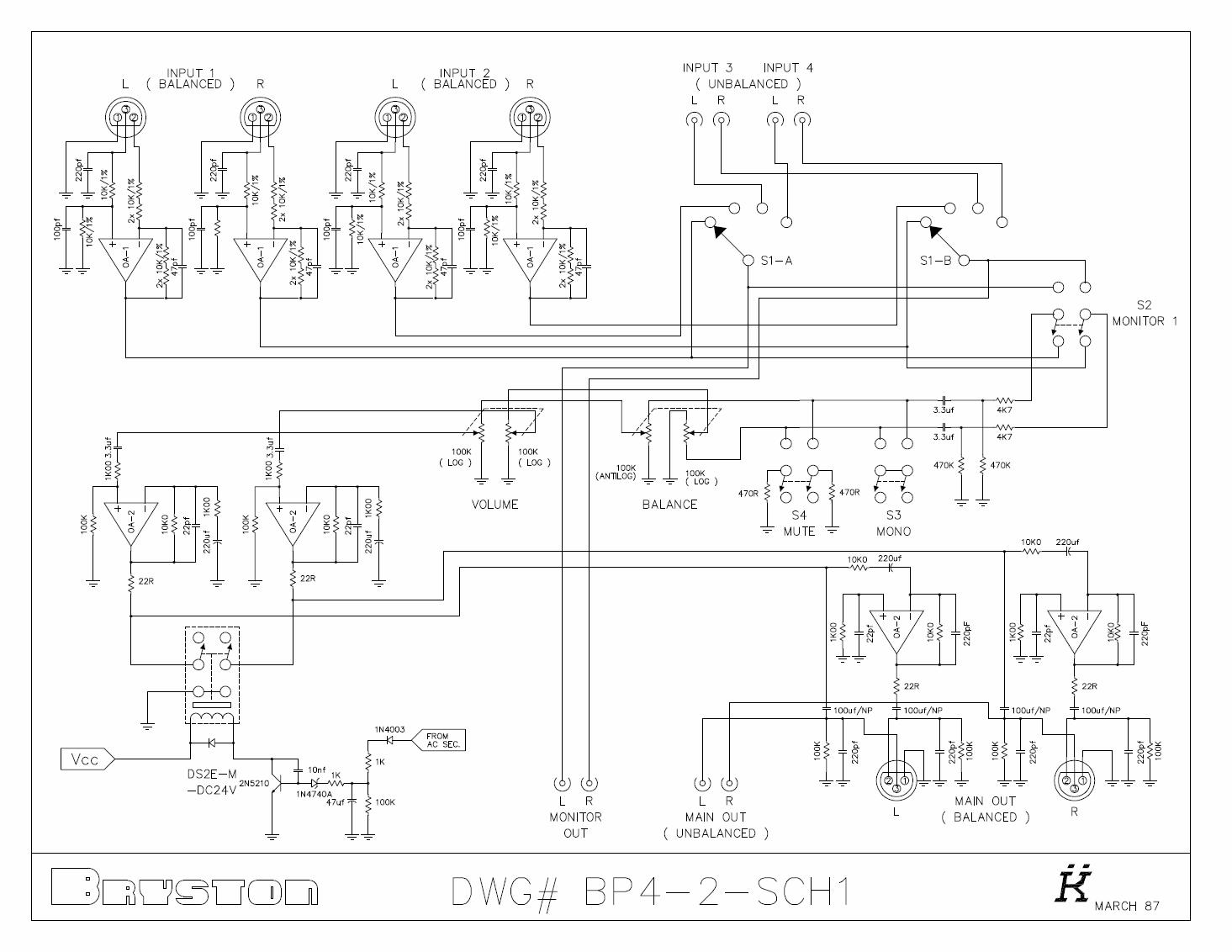 headphone amplifier schematic