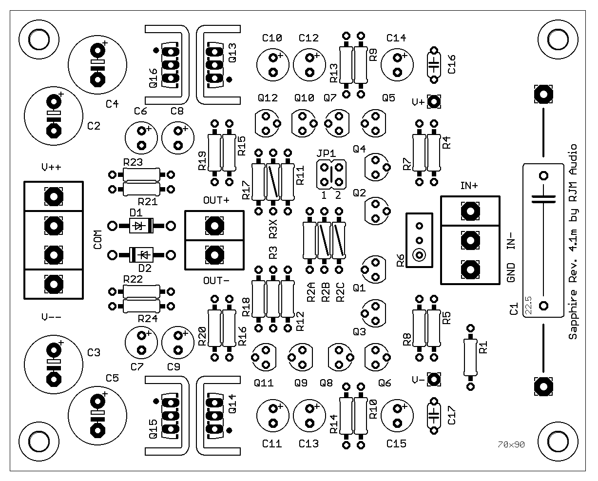 Mosfet Hybrid Amplifier W Circuit Diagram