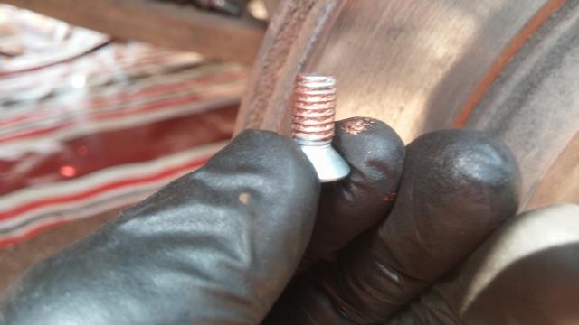 brake disc retaining screw