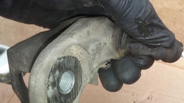 Rebuilding a brake caliper
