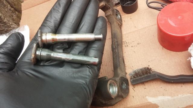 changing brake calipers