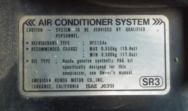 AC system sticker