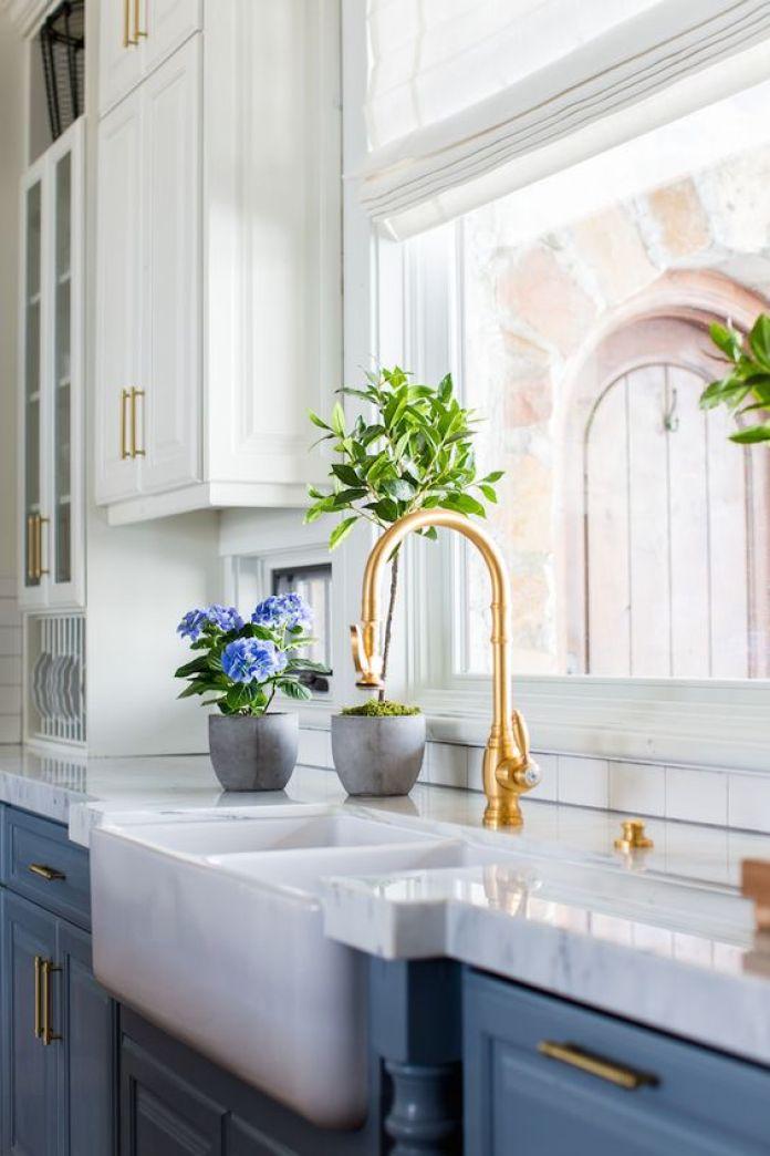 white gold kitchen