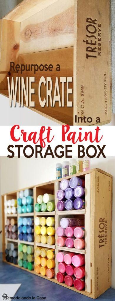 Craft Paint Storage Box