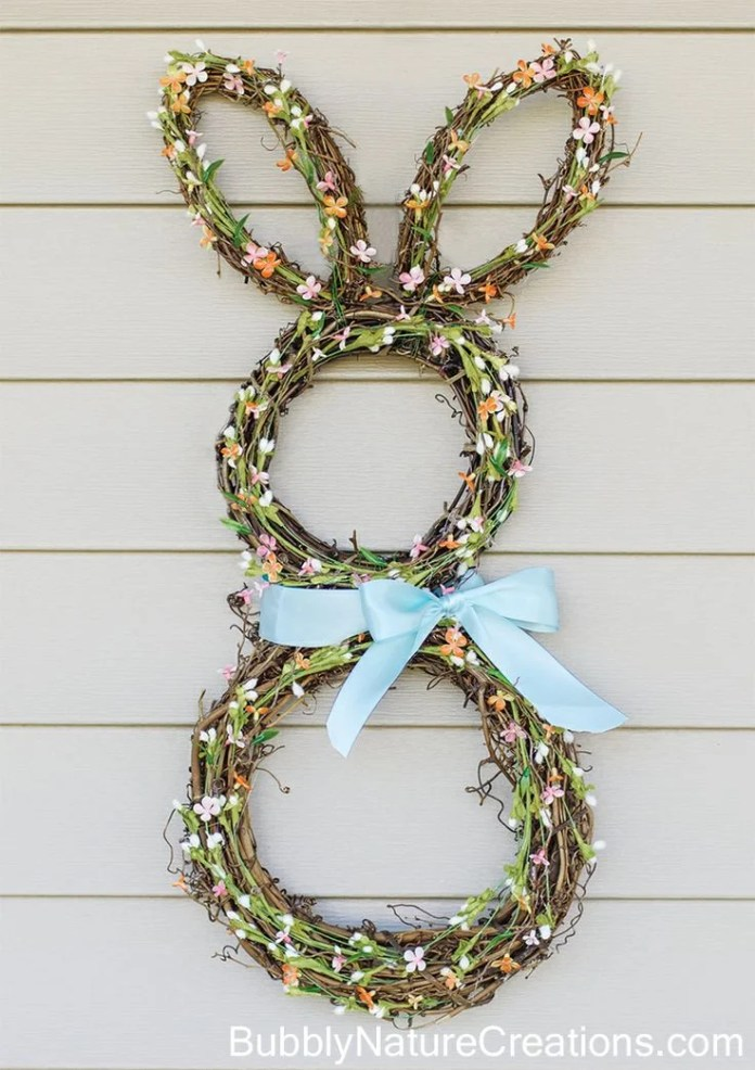 Easter bunny wreath idea