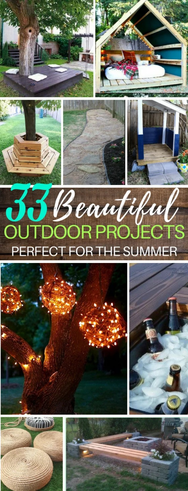 33 DIY Backyard Summer Projects You Can Try Today | DIY Benches | DIY Lights | Fire Pits | Water Park Backyard