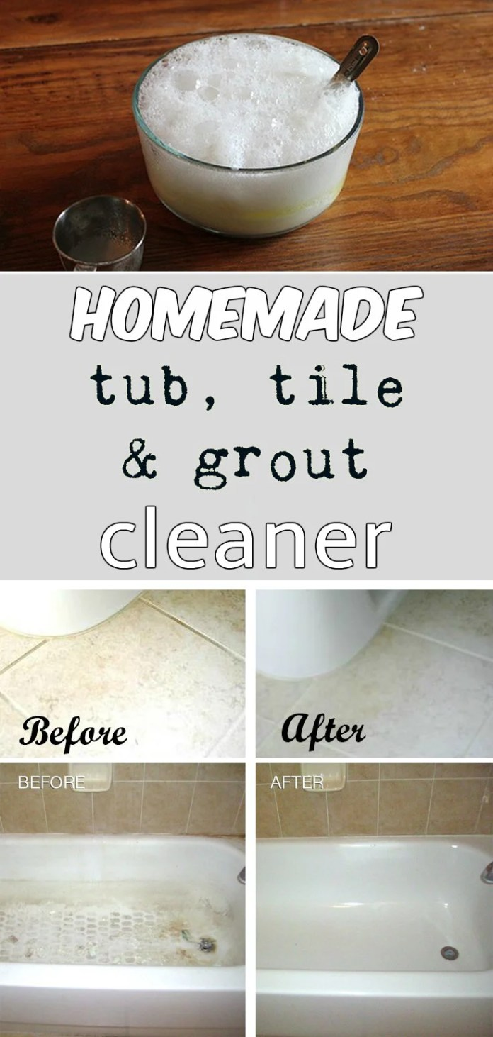 Cleaning Your Bathroom | Tub, tile and grout cleaner hack