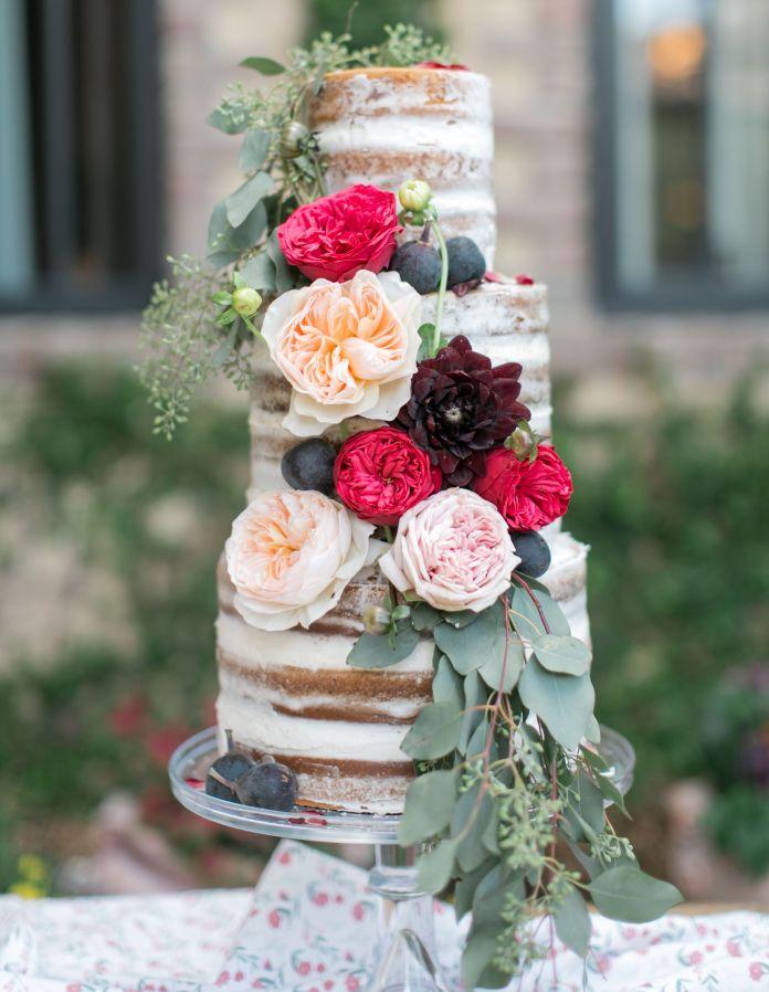 Vintage Naked Wedding Cake