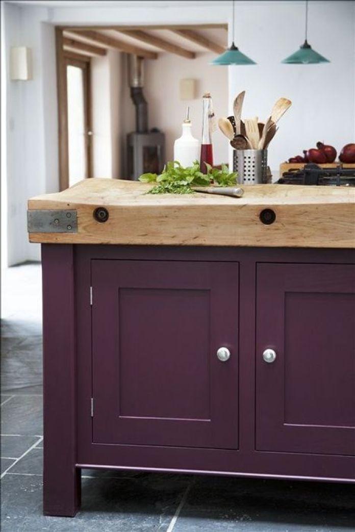 Aubergine Purple Kitchen Cabinet Paint Ideas