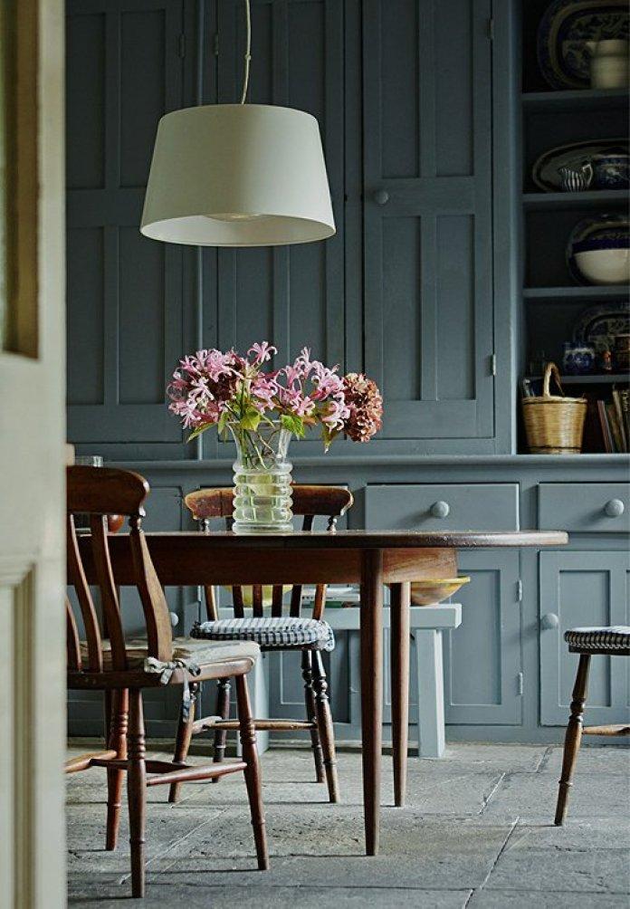 Newburg Green Kitchen Cabinets | Smoky Green Paint