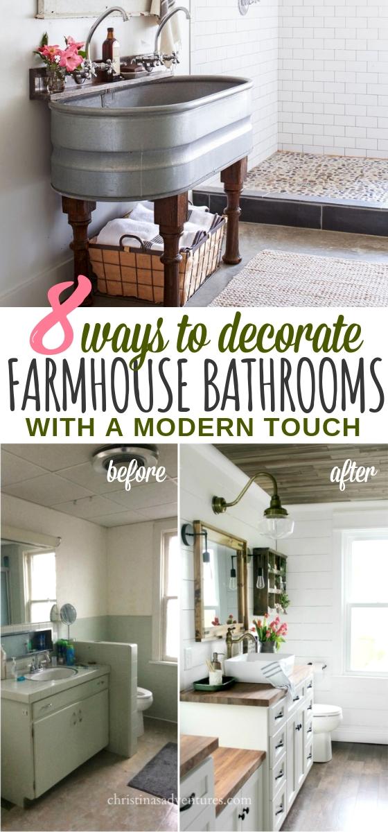 Farmhouse Bathroom Design Ideas for a Modern Rustic Look on Rustic Farmhouse Farmhouse Bathroom  id=84933