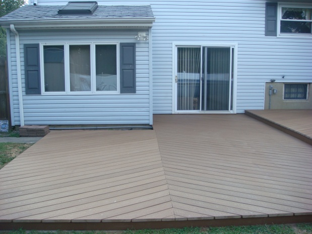 ideas for deck over concrete patio and