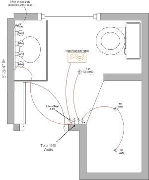 Bathroom Wiring Diagram  Electrical  DIY Chatroom Home