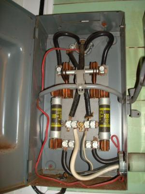 100AMP Main Board Off A 100AMP Main Fuse  Electrical
