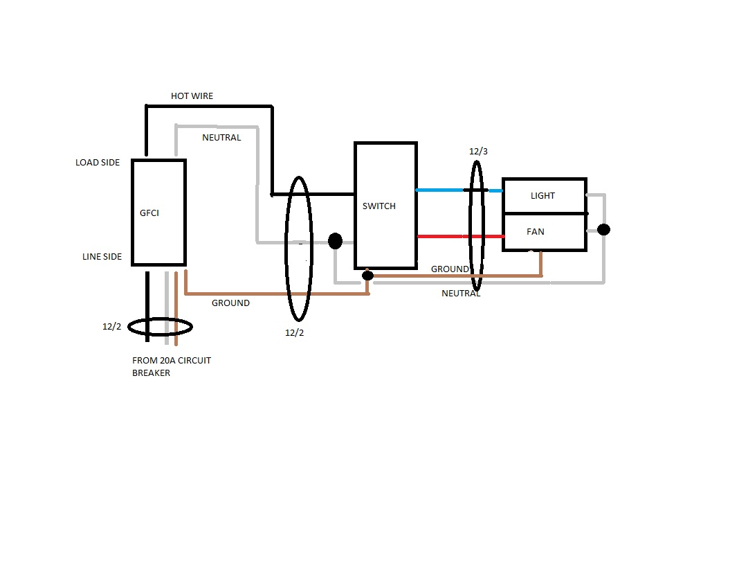 Bathroom Exhaust Fan Wiring Diagram For Switch To Light