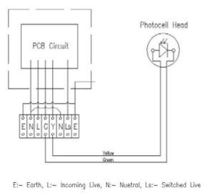 Photocell Sensor To Control Several Lighting Circuits