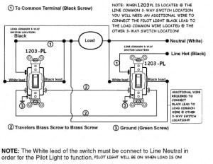 Wiring Diagram For Threeway Switches With Pilot Light
