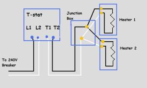 240v Electric Baseboard Heat Wiring Diagram  Electrical