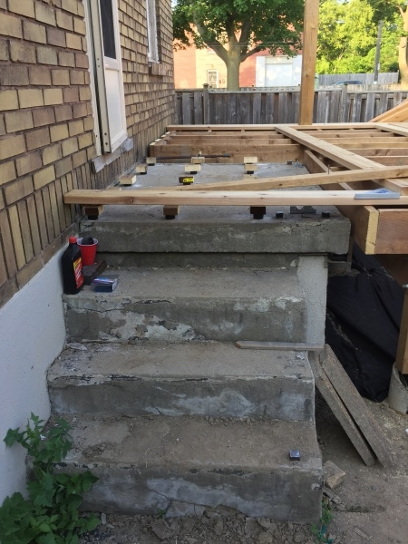 Deck Stairs On Top Of Old Concrete Stairs Building | Wood Deck Over Concrete Steps | Extension | Front | Back Deck | Cover Concrete | Solid Deck