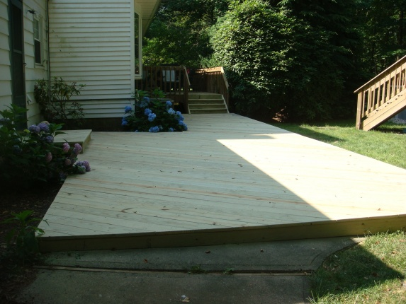 Ideas For Deck Over Concrete Patio And Beyond-pics ... on Deck Over Patio Ideas id=45690