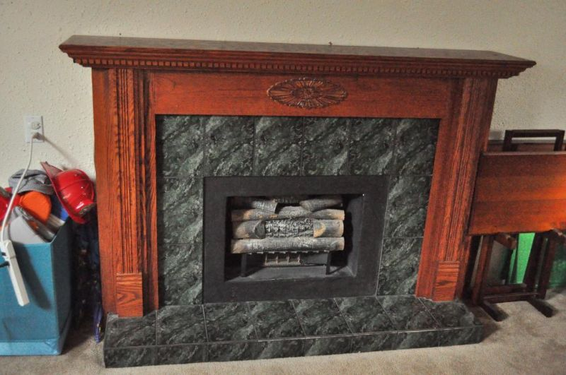 Painting Oak Stained Fireplace Mantle White Painting